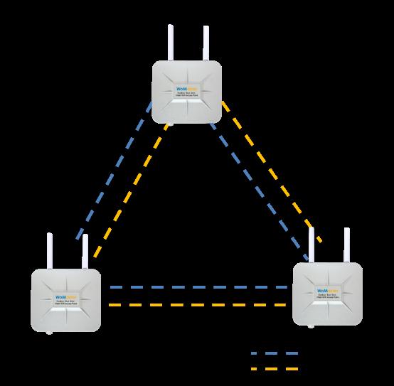 Mesh WiFi Multiple Backhaul