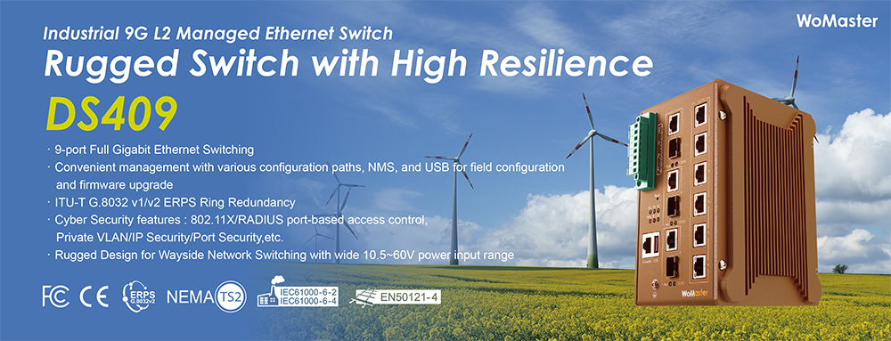 WoMaster launches DS409 – Rugged Switch with High Resilience