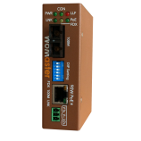 DP101 - mini-size industrial fiber converter with PoE WoMaster