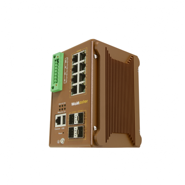 DS412 Industrial 8G + 4GF Layer 2 Cyber Security Switch|WoMaster