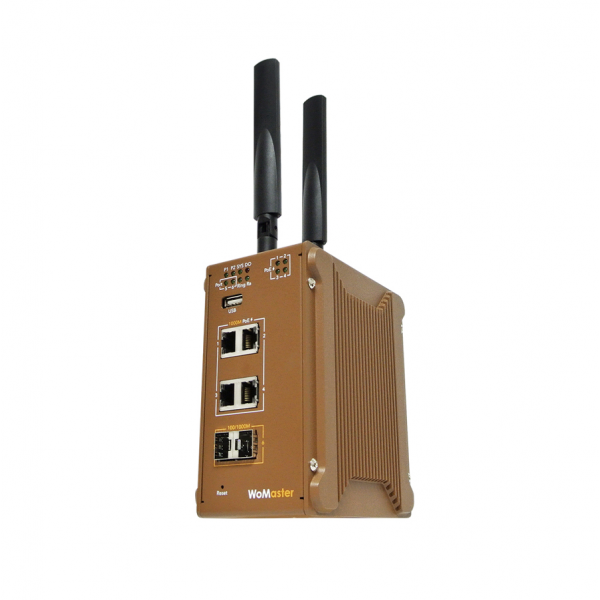 WR316GPS Industrial Cellular PoE Routing Switch | WoMaster