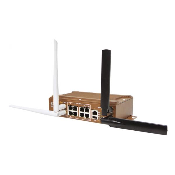 WR329-WLAN+LTE - Industrial 8+1G port Cellular Ethernet Router