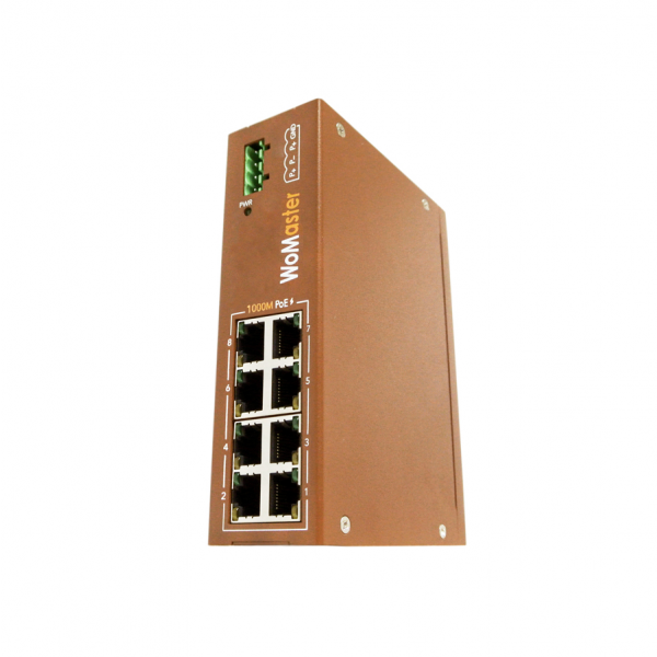 DP208 Industrial 8-port PoE switch|WoMaster